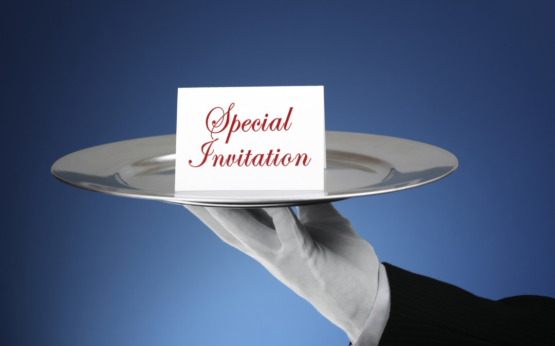 Guest blogger, Karina Heinz: Don't wait to be invited!